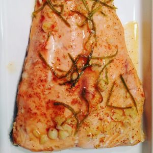 Salmon finished chipotle