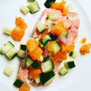 clementine cucumber relish fish