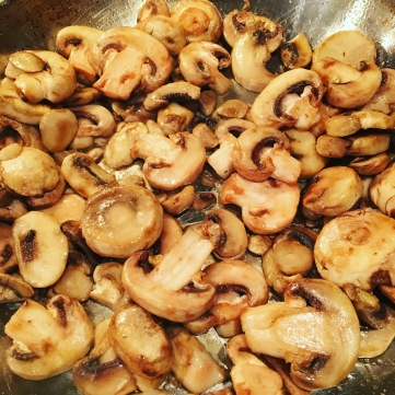 Kiddo hates mushrooms, but husband and I love them