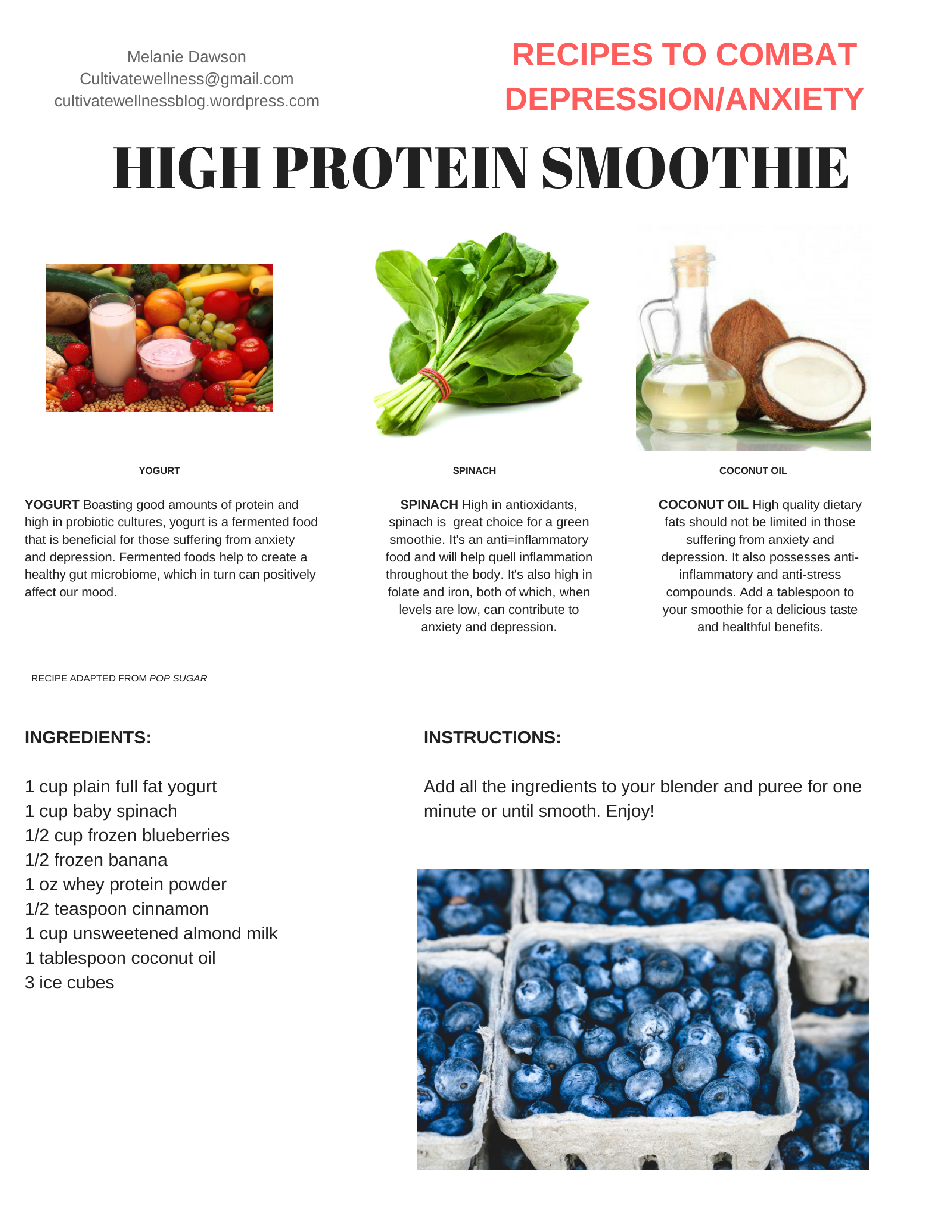 High Protein Smoothie png format